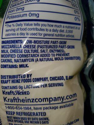 mozzarella cheese - Ingredients - en