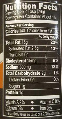 Bistro bacon ranch - Nutrition facts - en
