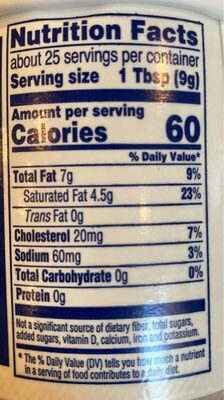 Whipped butter - Salted - Nutrition facts - en