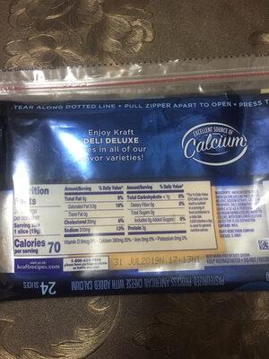 Kraft dehydration American 24 slices - Ingredients - en