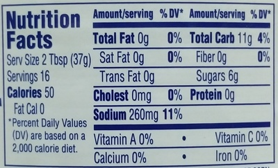 Thousand island - Nutrition facts