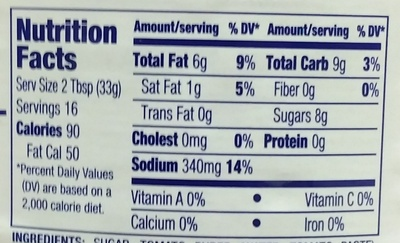 Classic Catalina Dressing - Nutrition facts - en