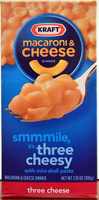 Kraft Macaroni & Cheese Dinner three cheese - Product - en
