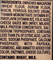 Macaroni & cheese - Ingredients