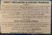 Macaroni & Cheese Dinner - Ingredients