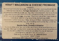 Macaroni & Cheese Dinner - Ingrédients - fr