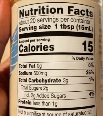 Teriyaki Sauce & Marinade - Voedingswaarden - en
