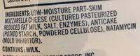 Low-Moisture Part-Skim Mozzarella Cheese - Ingredients