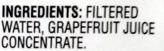 100% white grapefruit juice - Ingredients - en