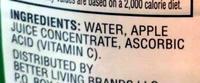 Safeway apple juice - Ingredients