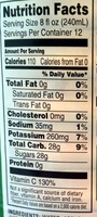 100% juice apple juice from concentrate with added ingredient - Nutrition facts - en