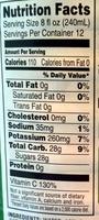 Safeway apple juice - Nutrition facts