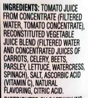 Vegetable juice - Ingredients - en