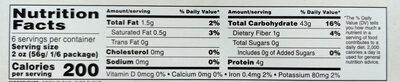 Fettuccine gluten free pasta - Nutrition facts - en