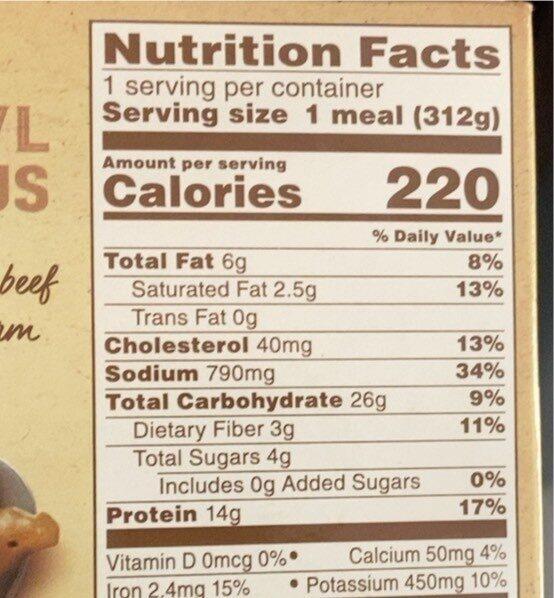 Beef Pot Roast - Valori nutrizionali - en