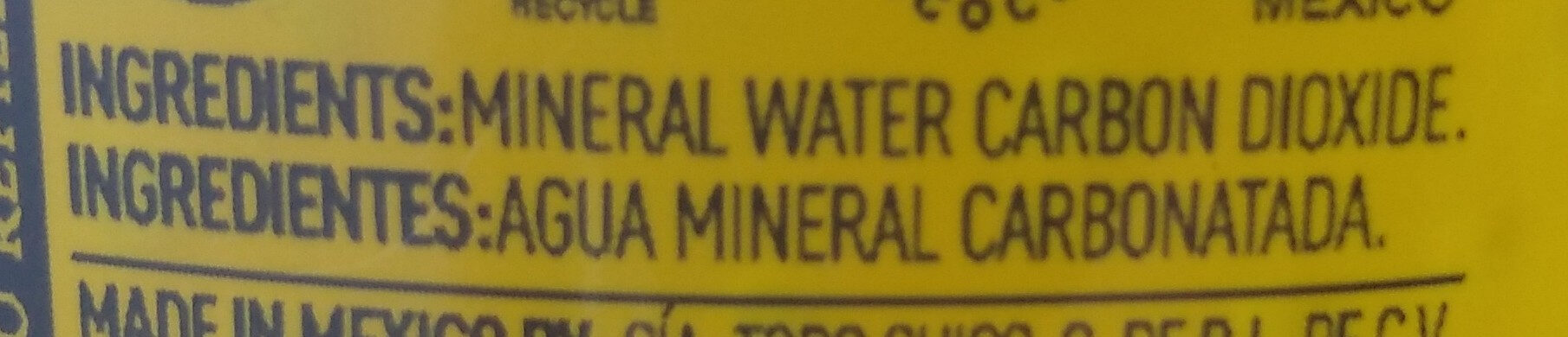 Agua Mineral - Ingredients