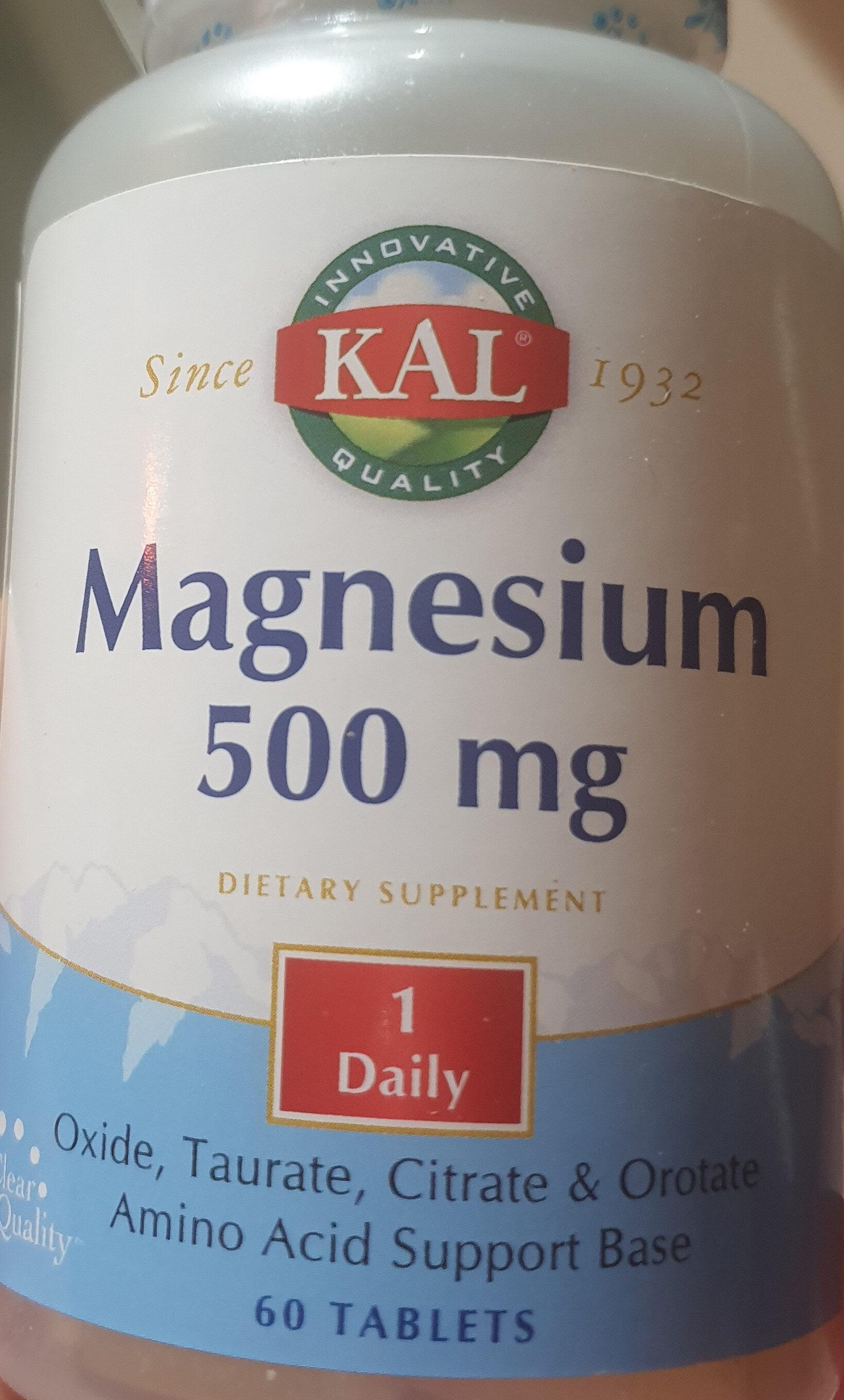 Magnesium 500mg - Produit