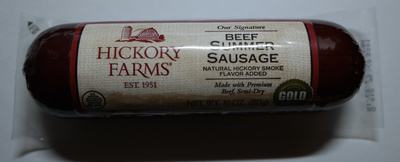 Hickory Farms® Our Signature Beef Summer Sausage Natural Hickory Smoke Flavor Added Made with Premium Beef, Semi-Dry - Product