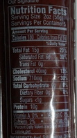 Hickory Farms® Our Signature Beef Summer Sausage Natural Hickory Smoke Flavor Added Made with Premium Beef, Semi-Dry - Nutrition facts