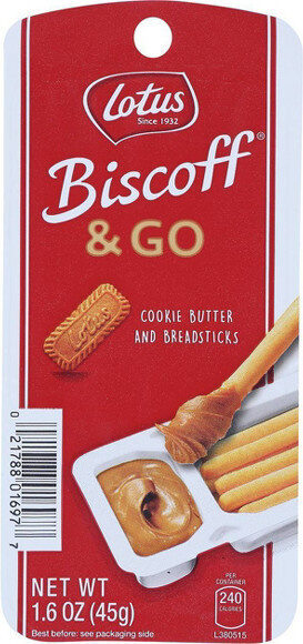 Lotus & go cookie butter and breadsticks - Product - en