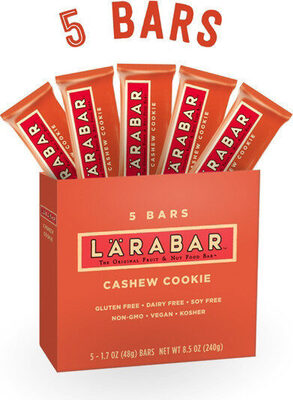 Larabar fruit nut bar cashew cookie gluten free - Product - en