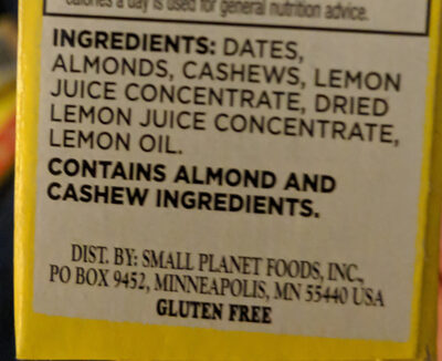 Lemon bar - Ingrédients