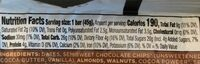The Original Fruit & Nut Bar, Chocolate Chip Browne - Nutrition facts
