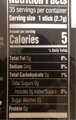 Wrigley's peppermint cobalt sugarfree gum - Nutrition facts - en