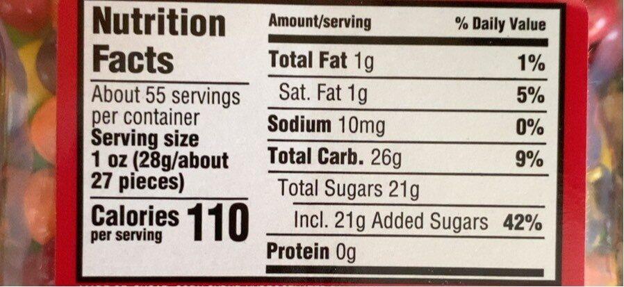 Original bite size candies - Nutrition facts - en