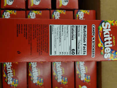 Skittles 25 count candy n' stickers - Product - en