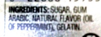 Altoids: Peppermint - Ingredients