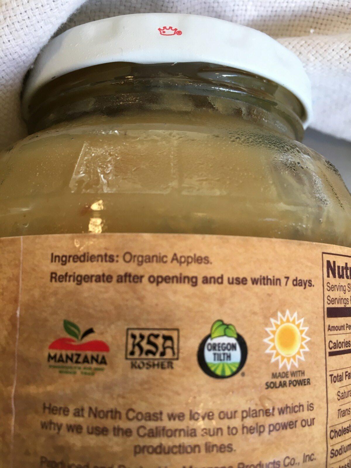 Organic apple sauce - Ingrédients - fr