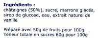 Crème de Marrons de l'Ardèche - Zutaten - fr