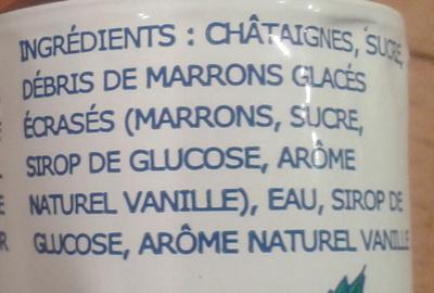 Crème de marrons de l'Ardèche - Ingrediënten - fr