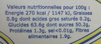 Crème de marrons de l'Ardèche - Voedingswaarden - fr