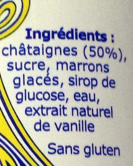 Crème de marrons de l'Ardèche - Ingrediënten