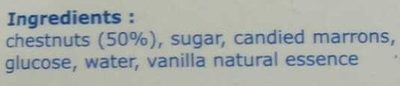 Crème de marrons - Ingredients