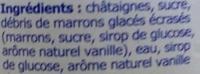 Crème de marrons de l'Ardèche - Ingrédients - fr