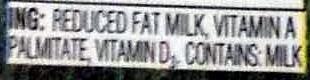2% Reduced Fat Milk - Ingredients - en