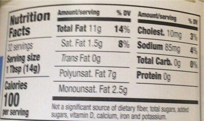 Organic Mayonnaise - Valori nutrizionali - en