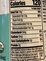 Spectrum, organic unrefined medium heat virgin coconut oil - Nutrition facts - en