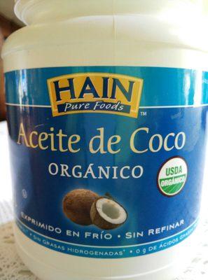 Aceite de Coco Orgánico - Product - es
