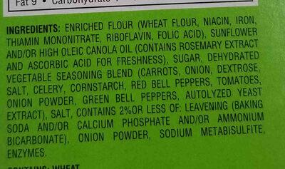 Garden Vegetable Crackers - Ingrédients - en