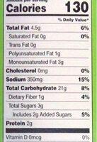 Garden Vegetable Crackers - Informations nutritionnelles - en