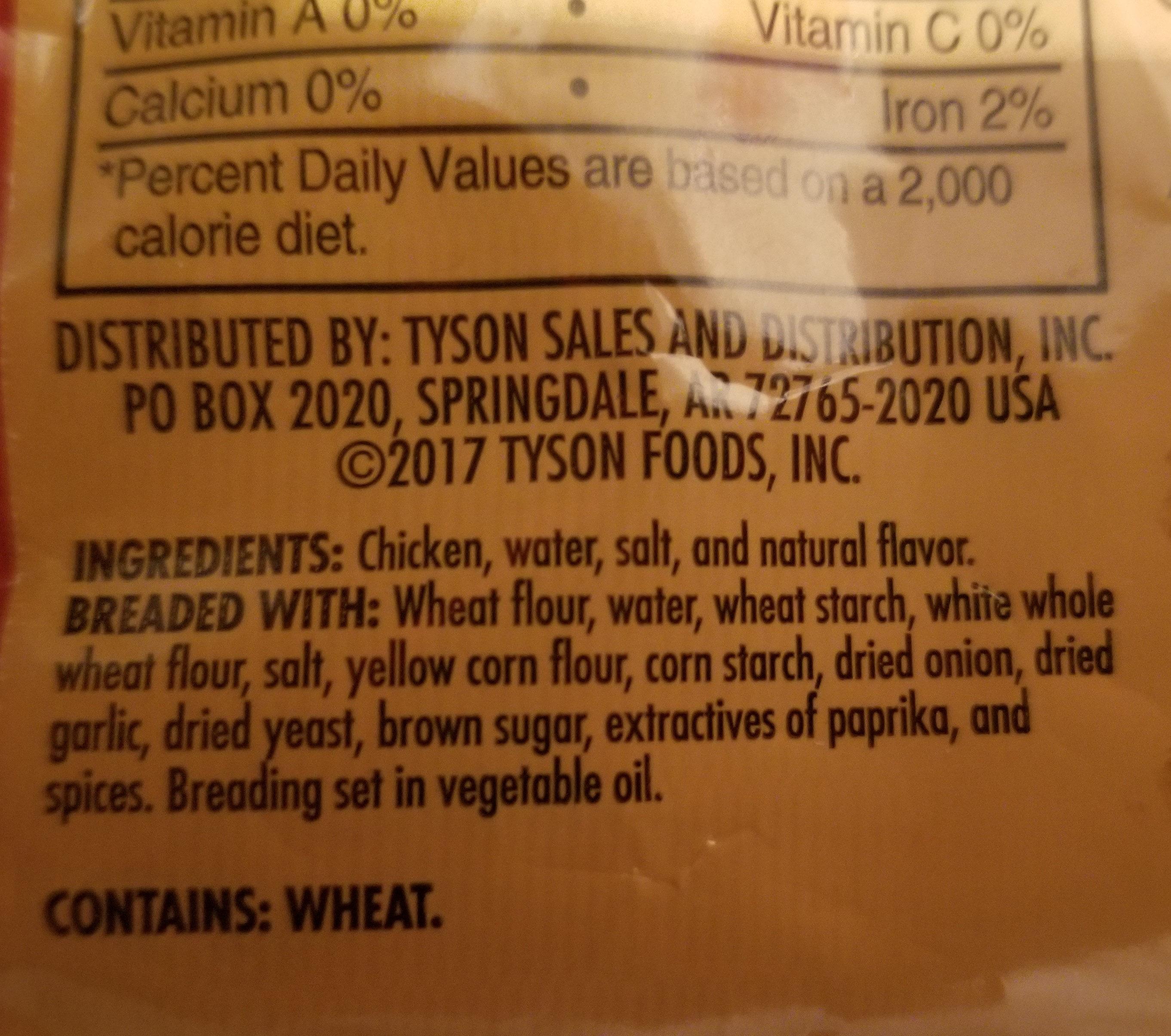 Chicken patties - Ingredients - en