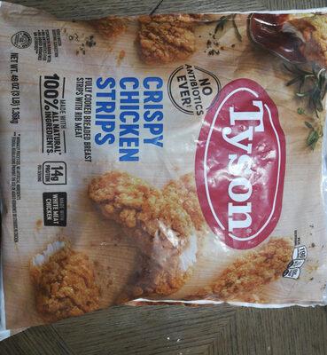 Crispy chicken strips fully cooked breaded breast strips with rib meat, crispy chicken strips - Product - en