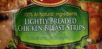 Lightly breaded chicken breast strips - Product - en