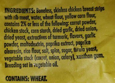 Lightly breaded chicken breast strips - Ingredients - en