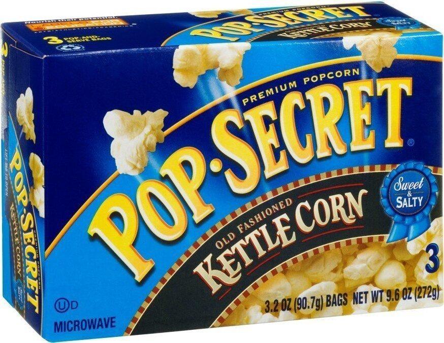 Microwavable popcorn kettle corn - Product - en