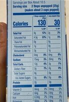 Microwavable popcorn kettle corn - Nutrition facts - en